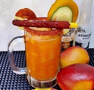 michelada de mango preparada